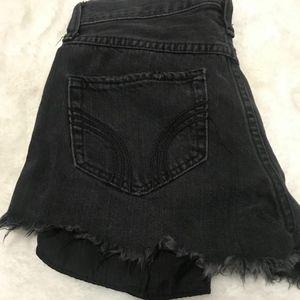 Black High waisted Hollister shorts